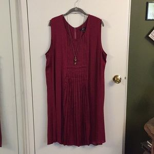 Berry Feather-light Smock Dress